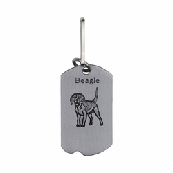 1-5/8 Inch Pewter Beagle and St. Francis Dog Tag