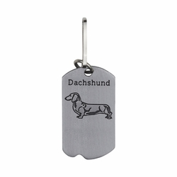 1-5/8 Inch Pewter Dachshund and St. Francis Dog Tag
