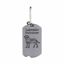 1-5/8 Inch Pewter Labrador Retriever and St. Francis Dog Tag