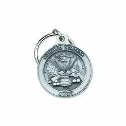 1-7/8 Inch Pewter United States Army Key Chain
