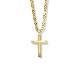 1 Inch 14K Gold Filled Outlined Inner Cross Necklace