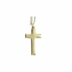 1 Inch Gold Plated Cross Necklace