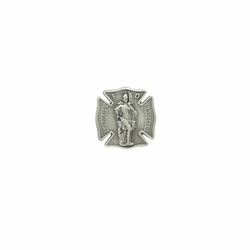 1 x 1 Inch Pewter Shield St. Florian, Patron of Firefighters Pin