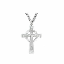 1 Inch Sterling Silver Celtic Cross Necklace