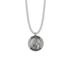 1 Inch Sterling Silver Large Round St. Paul Medal, Patron Saint Of Missionaries and Authors