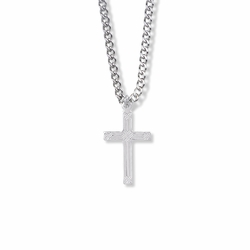 1 Inch Sterling Silver Woven Cross Necklace