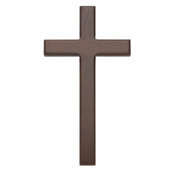 10 Inch Beveled and Stained Wood Wall Cross
