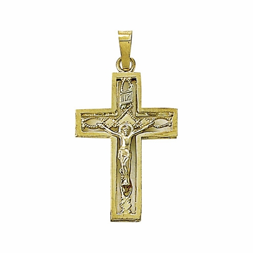 14K Gold Cross Pendant in a Pierced Design
