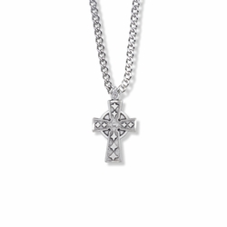 15/16 Inch Sterling Silver Celtic Cross Necklace
