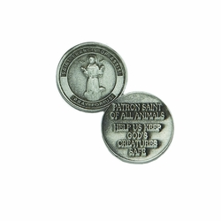 15/16 x 15/16 Inch Round St. Francis Inspirational Pocket Token