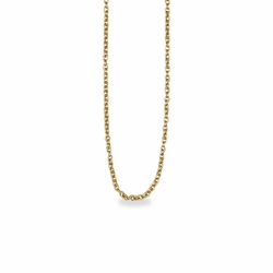 15 Inch Gold Plated Cable Necklace Chain