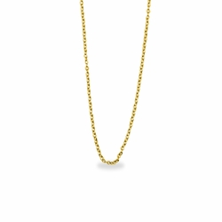 16 Inch Stainless Steel 14K Gold Plated Cable Necklace Chain