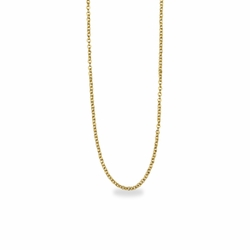 18 Inch Stainless Steel 14K Gold Plated Cable Necklace Chain Carded
