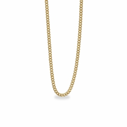 18 Inch Stainless Steel 14K Gold Plated Curb Necklace Chain