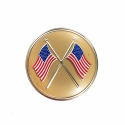 2 Inch Adhesive American Cross Flags Emblem