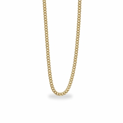 20 Inch Stainless Steel 14K Gold Plated Curb Necklace Chain