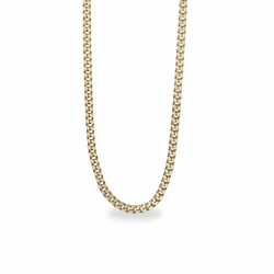 20 Inch Gold Plated Curb Necklace Chain