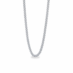 20 Inch Stainless Steel Rhodium Plated Curb Necklace Chain