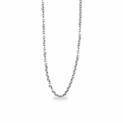 22 Inch Silver Plated Round Link Cable Necklace Chain