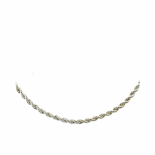 """22"""" Silver Plated Rope Chain Necklace with Lobster Claw"""