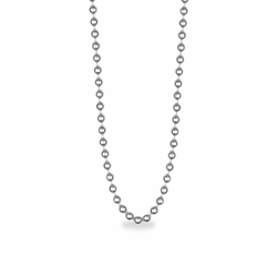 24 Inch Silver Plated Beaded Necklace Chain