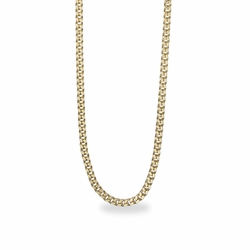 27 Inch Stainless Steel 14K Gold Plated Curb Endless Necklace Chain