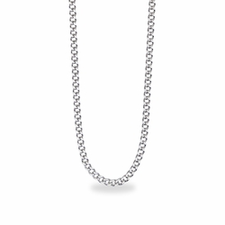 27 Inch Stainless Steel Rhodium Plated Curb Endless Necklace Chain