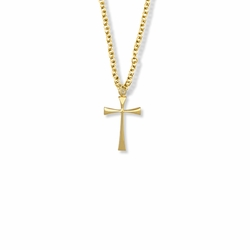 3/4 Inch 14K Gold Filled Maltese Cross Necklace