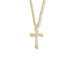 3/4 Inch Gold Plated Maltese Cross Necklace