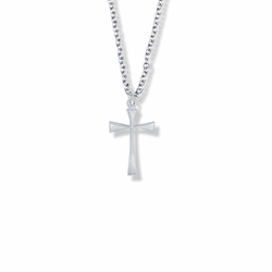 3/4 Inch Silver Plated Maltese Cross Necklace