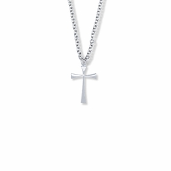 3/4 Inch Sterling Silver Maltese Cross Necklace