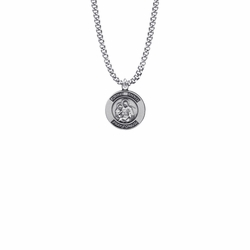 3/4 Inch Sterling Silver Round St. Anne Medal, Patron Saint of Women in Labor