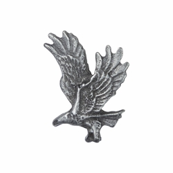 3/4 x 9/16 Inch Pewter Eagle Lapel Pin
