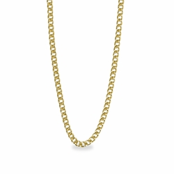 30 Inch Stainless Steel 14K Gold Plated Curb Endless Necklace Chain