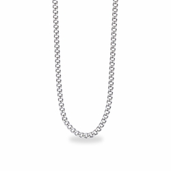 30 Inch Stainless Steel Rhodium Plated Curb Endless Necklace Chain