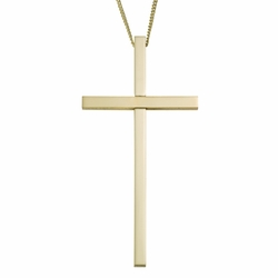 4 Inch Gold Plated Clergy Cross Necklace