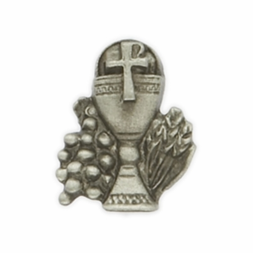 """5/8"""" x  1/2"""" Fine Pewter  Chalice Pin"""