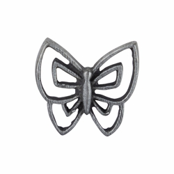 5/8 x 5/8 Inch Pewter Butterfly Lapel Pin