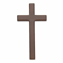 7-5/8 Inch Beveled and Stained Wood Wall Cross