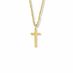 7/8 14K Gold Filled Plain Cross Necklace