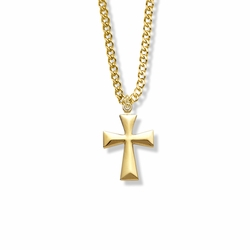 7/8 Inch 14K Gold Filled Flared Cross Necklace