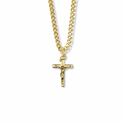 7/8 Inch 14K Gold Filled Ladies Crucifix