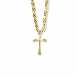 7/8 Inch 14K Gold Filled Maltese Cross Necklace