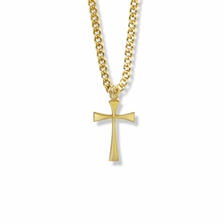 7/8 Inch Gold Plated Maltese Cross Necklace