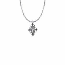 7/8 Inch Sterling Silver Filigree Oval Miraculous Medal