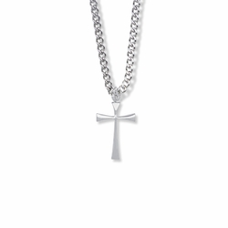 7/8 Sterling Silver Maltese Cross Necklace