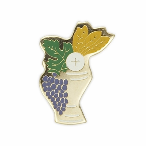 "7/8"" x 5/8"" Enameled Lapel  Multi-Color Chalice Pin"