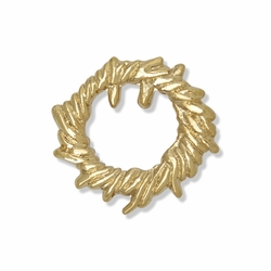 7/8 x 7/8 Inch Gold Crown of Thorns Lapel Pin