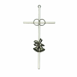 8 Inch Silver Plated 25th Wedding Anniversary Wall Cross