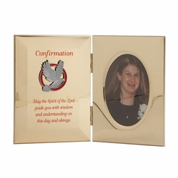 8 x 5 Inch Metal Confirmation Photo Frame with Photo Insert